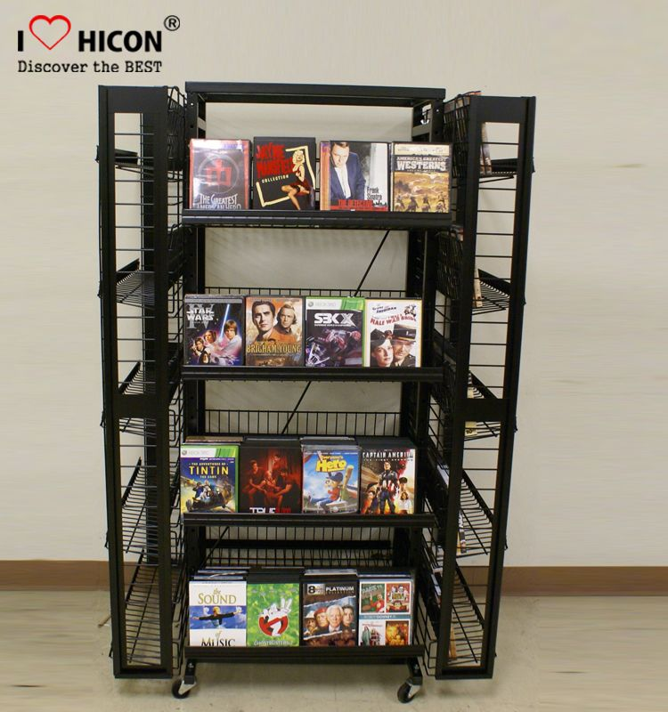 Comic Book Display Stand Made Of Black Metal Wire From Hicon Pop Displays Limited Stationery Display Sunglasses Display Display Case