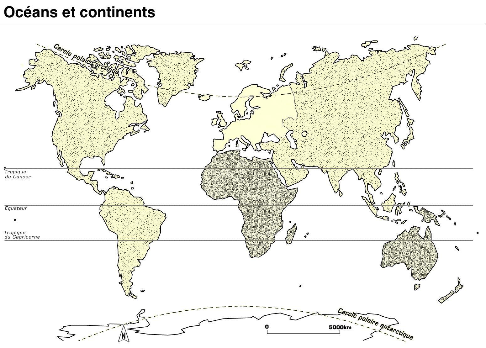 Carte Des Continents Et Océans Vierge Tonaartsenfotografie