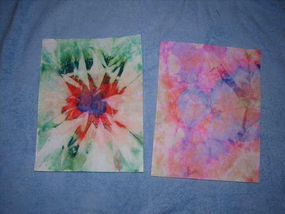 34618237278c Tie-Dye Paper- Invitations!