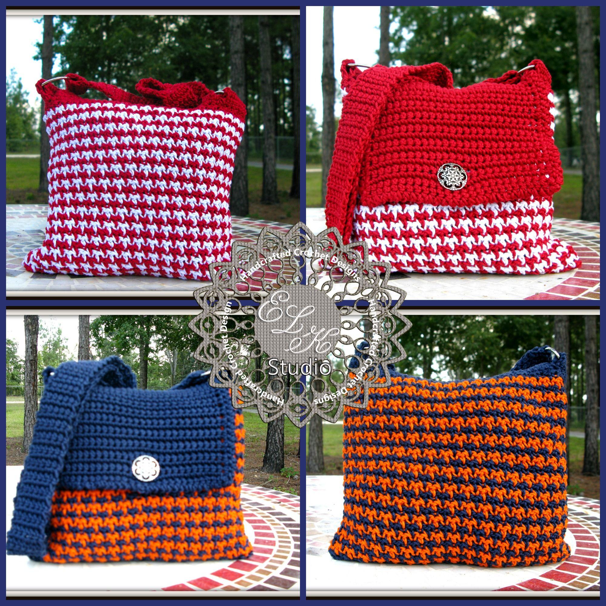 Auburn vs Alabama Crochet Style   Houndstooth, Elk and Crochet