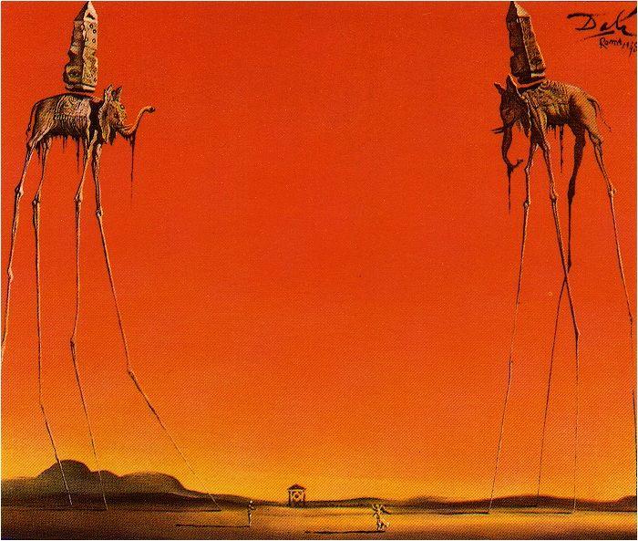 salvador dali elephant paintings - Google Search ...