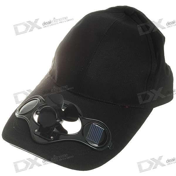 Stylish Baseball Hat Cap With Solar Powered Cooling Fan Black Caps Hats Baseball Hats Cap