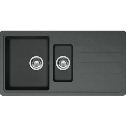 150 homebase Carron Phoenix Janus Composite Black Kitchen Sink- 1.5 ...