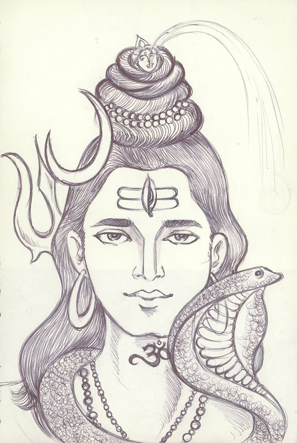 Sketching On Behance Lord Shiva Painting Lord Shiva Sketch