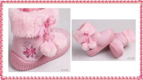 Sepatu Boots Anak Kids Winter Boots Pink Flower Usia 1 3 Tahun Sepatu Boots Anak Produk