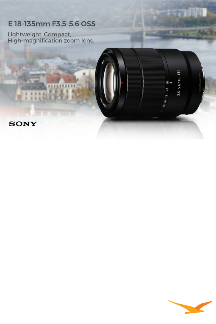 Compact Lightweight 18 135mm F3 5 5 6 Oss Aps C E Mount Zoom Lens Features Outstanding Sharpness And Fast Precise Quiet Af For A Wide Zoom Lens E Mount Oss