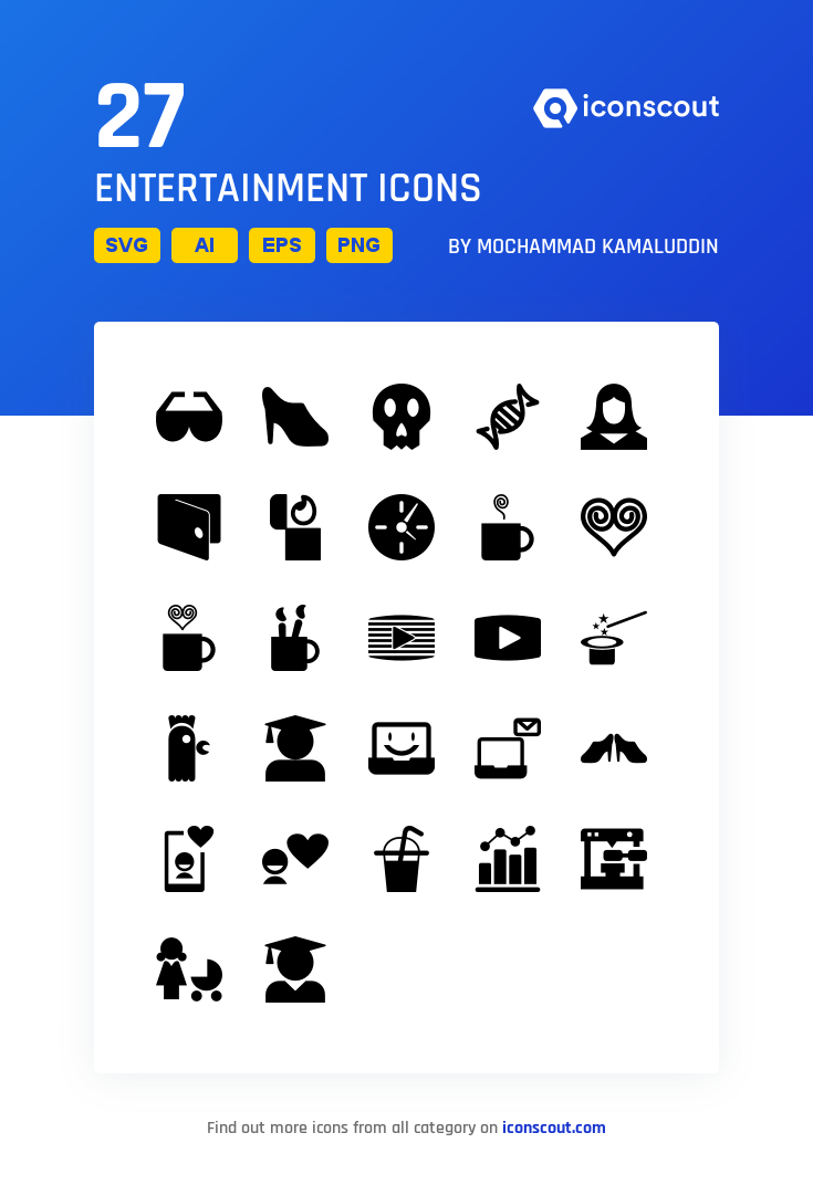 Download Leisure And Entertainment Icon Pack Available In Svg Png Eps Ai Icon Fonts Icon Pack Icon Entertaining