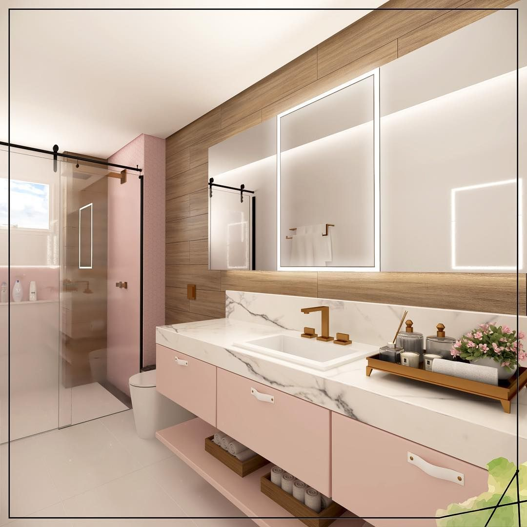Yasmin Bath Author Project Bathroom Banheirosdecorados Banheirodemenina Lighted Bathroom Mirror Bathroom Bathroom Vanity