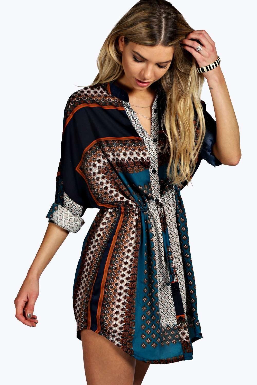 Blair Paisley Print Shirt Dress