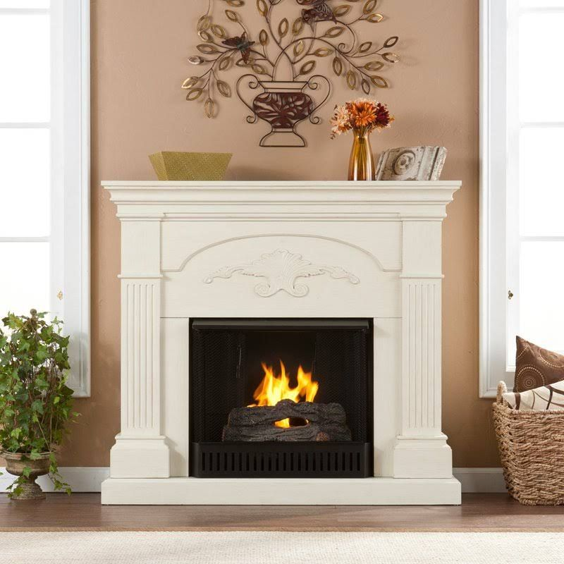Holly And Martin Salerno Gel Fireplace In Ivory Electric Fireplace Indoor Fireplace Fireplace