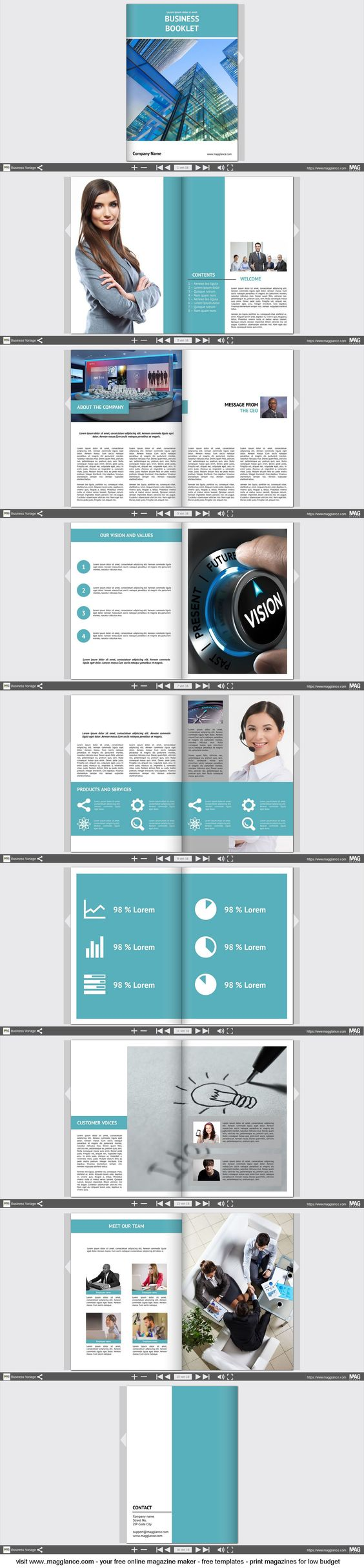 Pin By Mag Glance GmbH On Plantillas Folletos Pinterest - Online brochures templates