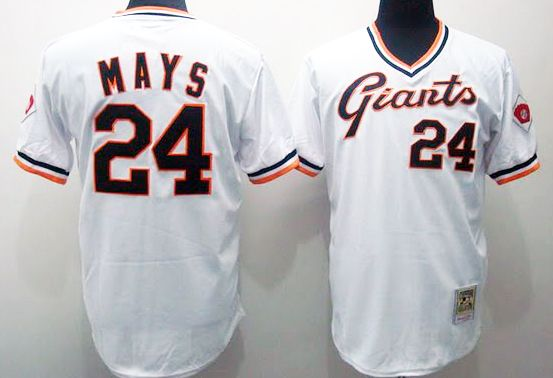 sneakers for cheap fb857 8ce0a MLB San Francisco Giants #24 Willie Mays jersey M 1951 white ...