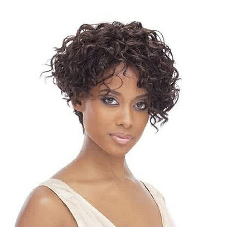making the short curly bob hairstyles with bangs women