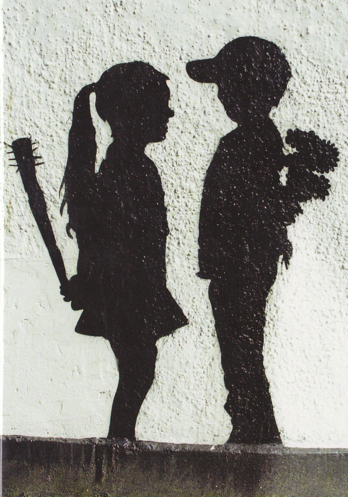 Картинки мальчик дарит цветы а девочка держит биту, надписью кто