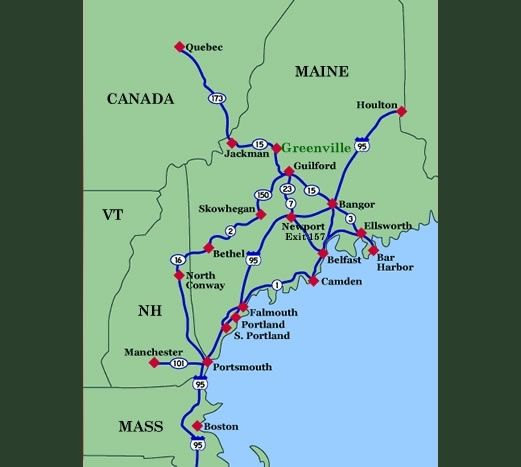 Map Of Greenville Maine Moosehead Lake Region Beautiful Places - Maine lakes map