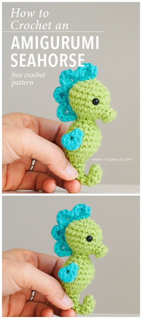 Amigurumi Seahorse Crochet Free Patterns #cutecrochet