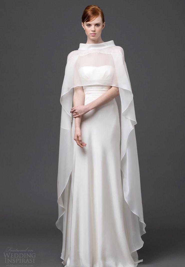 Inspired by chandrila cape wedding dress 2015 wedding