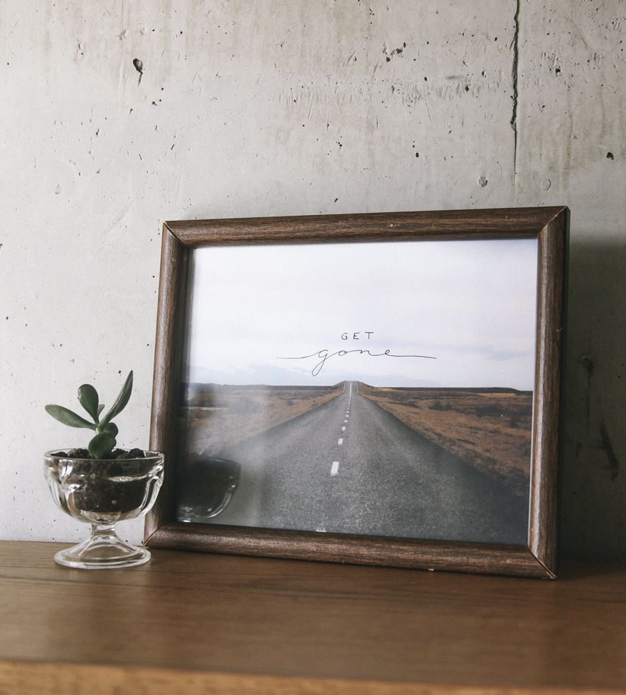 Get Gone Photo Art Print   Photo wall, Room and Interiors