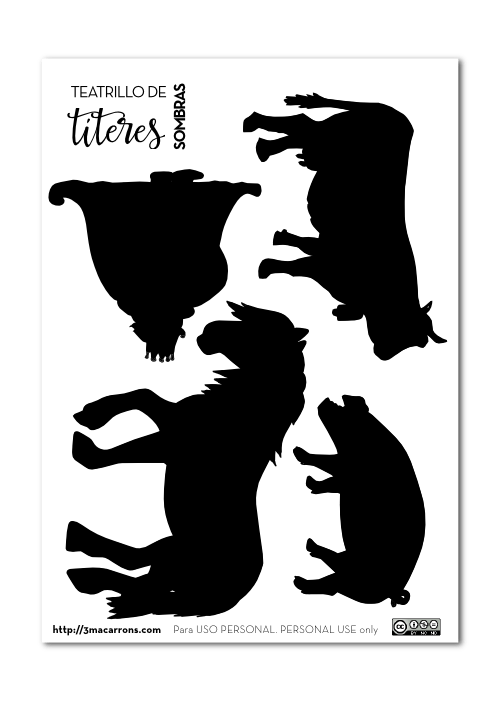 plantillas marionetas teatro de sombras | Crafts | Pinterest ...