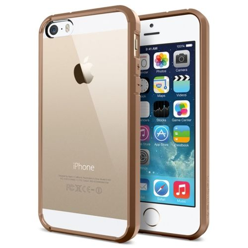 iPhone 5, 5s Spigen SGP Series Back cover + Frame case, cover, hoes, Goud