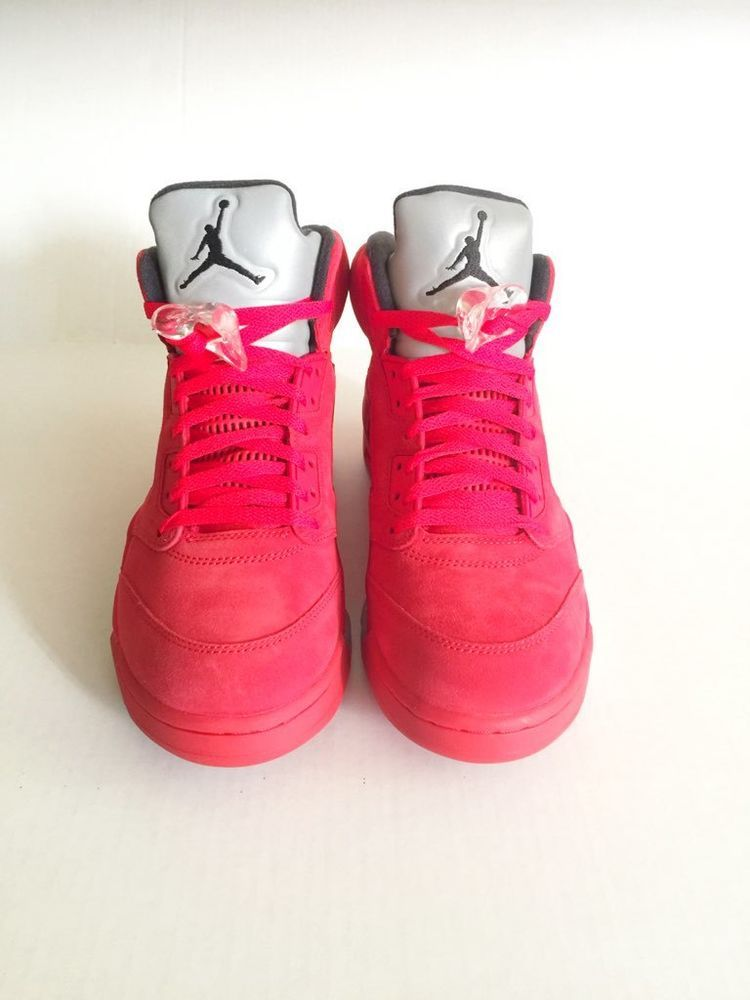 watch 50445 b6275 Nike Air Jordan V 5 Retro FLIGHT SUIT SUEDE UNIVERSITY RED BLACK 136027-602  10  Nike  BasketballShoes