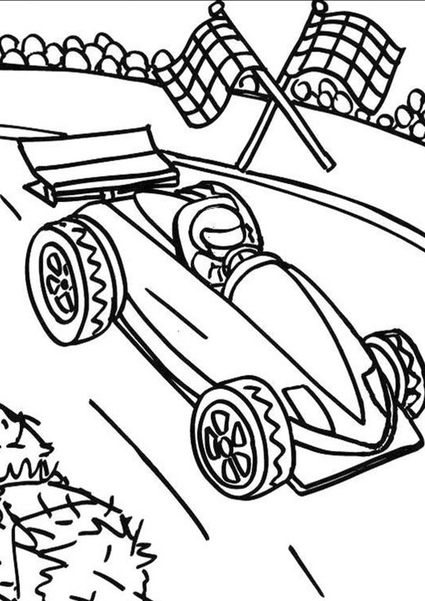 Free Amp Easy To Print Race Car Coloring Pages In