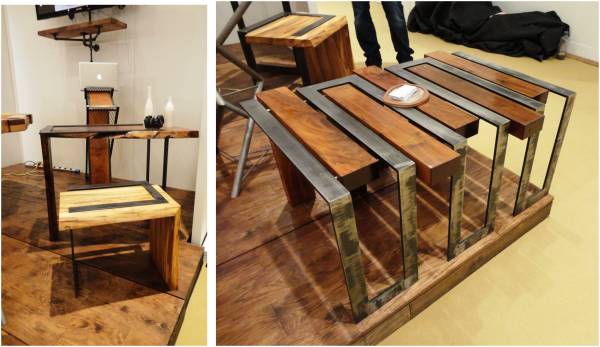 unique industrial furniture. Wood And Metal Combine To Create Industrial Looking Furniture. Unique Furniture E