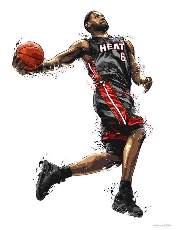NBA Illustrations 2nd set on Behance | Tshirt | Pinterest | NBA ...