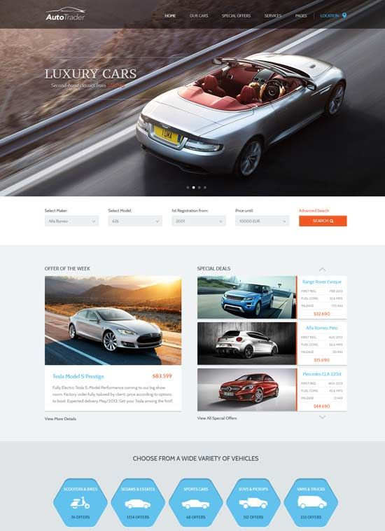 70 Best Car Auto Website Templates Free Premium Autotrader Car Dealer Autotrader Cars