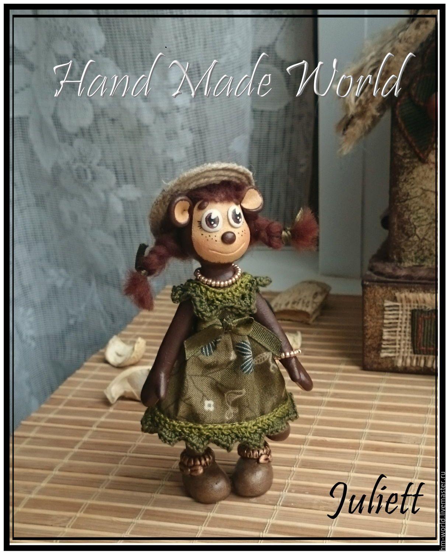 """Купить Обезьянка """"Мэри"""" - коричневый, оливковый, зеленый, хаки, бежевый, обезьянка, обезьяна, обезьянки, обезьяны"""