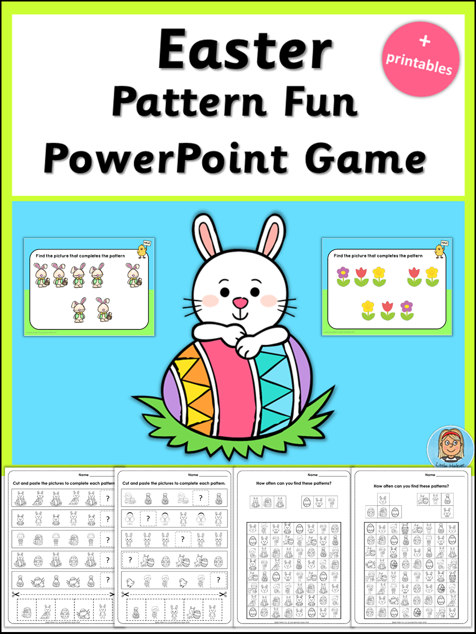 Easter Pattern Fun Game plus printables | Special education ...