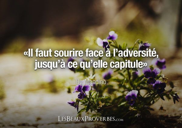 citation   il faut sourire  u00e0 l u0026 39 adversit u00e9