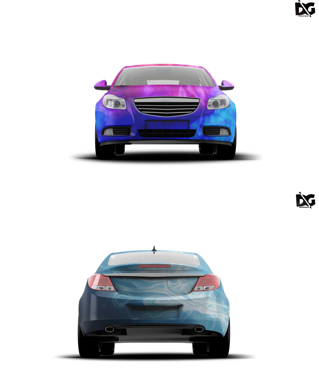 Free Mockup Serdan Car Warp Design Logo design mockup
