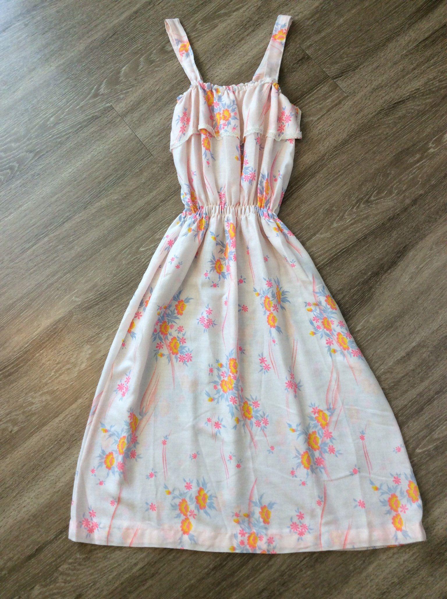Vintage 70s Handmade Sundress Summer Dress Etsy Summer Dresses Summer Dresses Sundresses Vintage Summer Dresses [ 2056 x 1536 Pixel ]