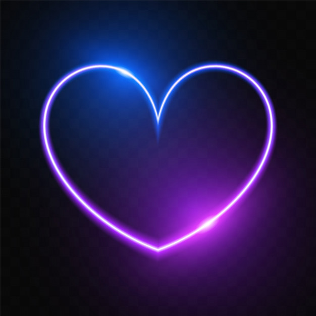 Glowing Purple Heart Banner Purple Heart Neon Wallpaper Purple Wallpaper Iphone