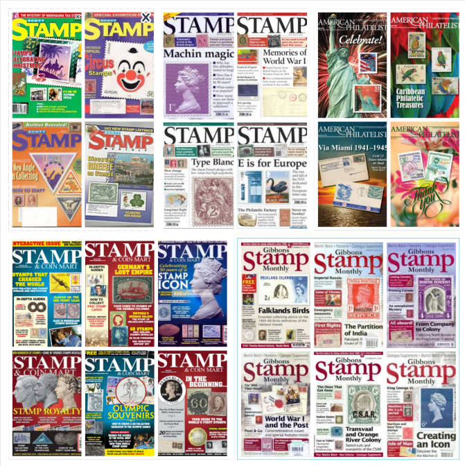 Download Big Stamp Postage Magazins Pack 55 Gigabites 1150 Pdf Files Stamp Catalogue Stamp Magic Memories