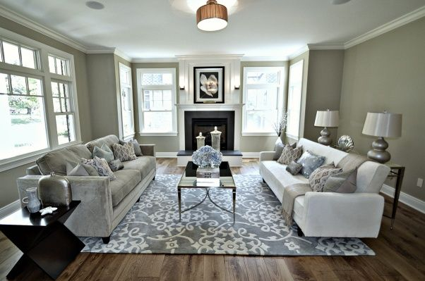 Living Room Glam, Rather Than Go With The Typical 2 Chairs And Sofa I  Designed