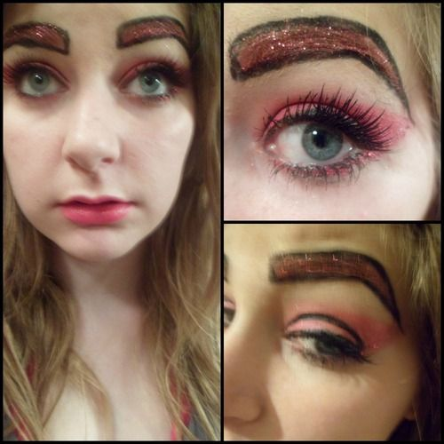 Y just y nope bad makeup brows and just nope for Tattooed eyebrows gone wrong