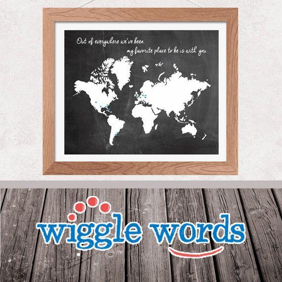 Custom chalkboard travel print world map by wigglewords on etsy custom chalkboard travel print world map by wigglewords on etsy 800 gumiabroncs Gallery