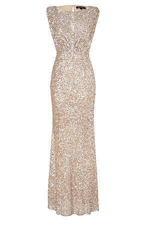 Golden Dress ....this is what I\'d wear to prom instead of those ugly ...