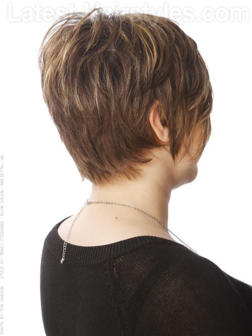 Textured Long Straight Pixie with Bangs and Highlights Back View · Long  HaircutsShort ... - Textured Long Straight Pixie With Bangs And Highlights Back View