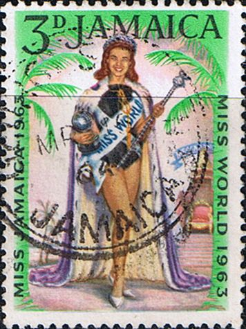Jamaica 1964 Miss World Fine Used       SG 214 Scott 205 Other West Indies and British Commonwealth Stamps HERE!