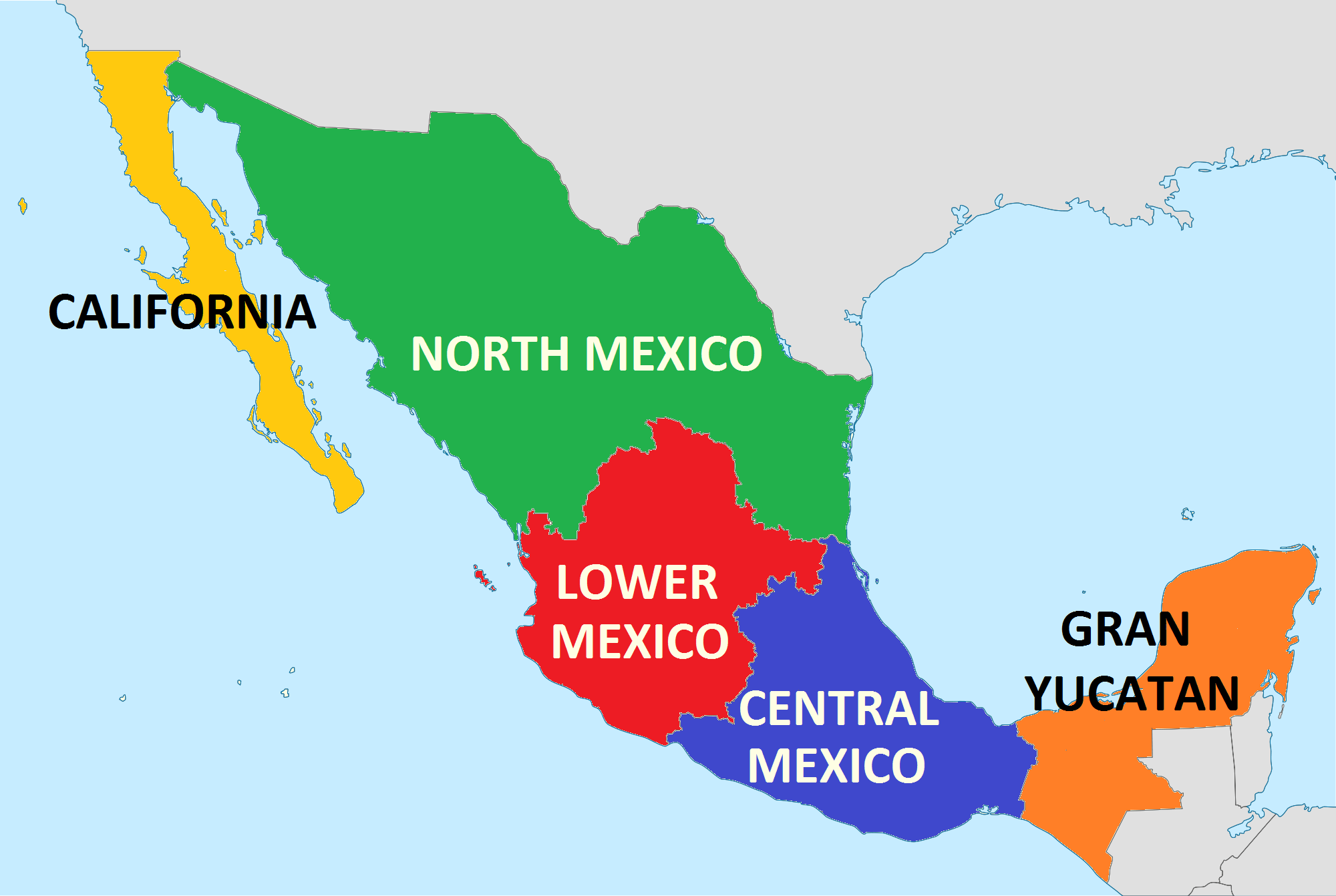 states of mexico map google search