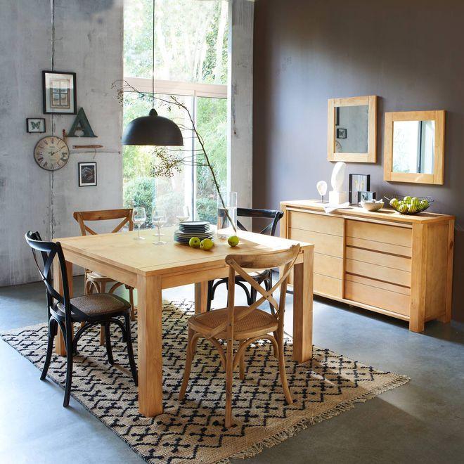 Déroulez un tapis sous la table de la salle à manger pour la réinventer