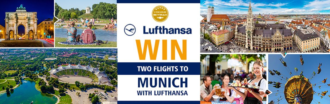In partnership with Lufthansa, we are giving away two free