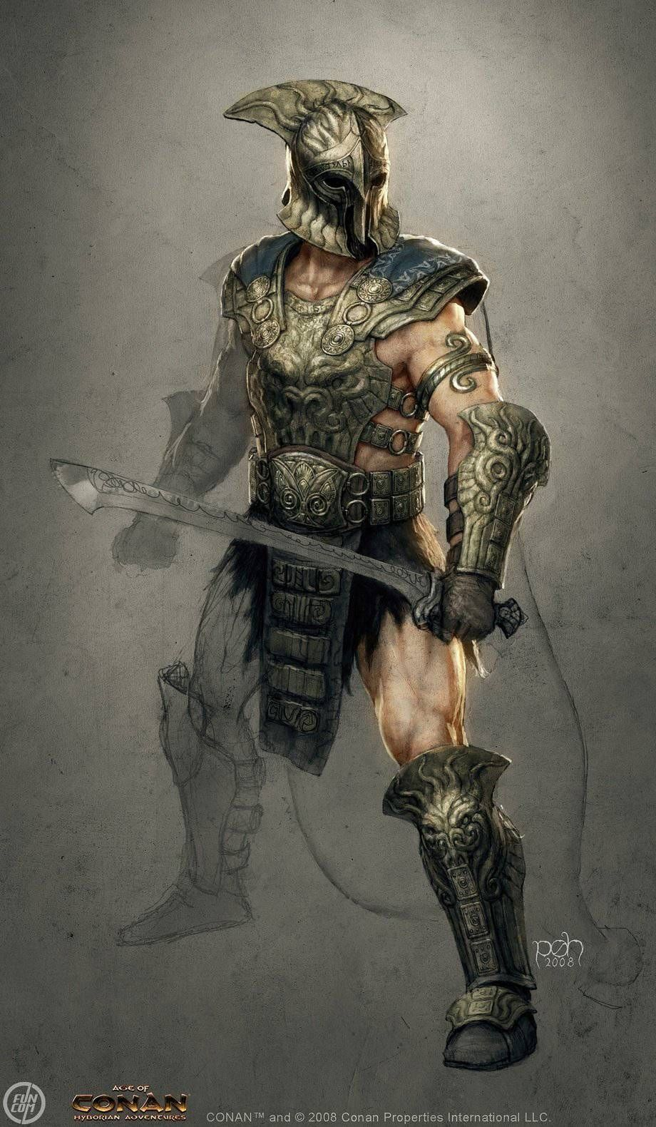 """Guardian from """"Age of Conan: Unchained"""" by Per Oyvind Haagensen"""