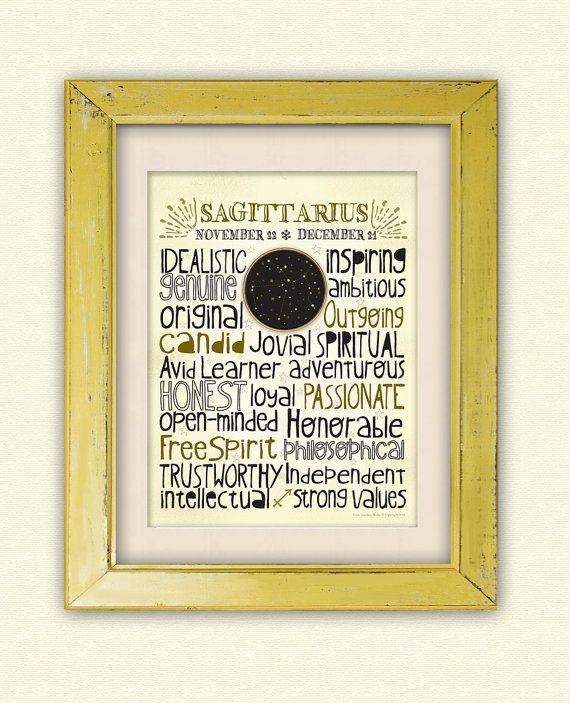 Zodiac Sagittarius   Art Print