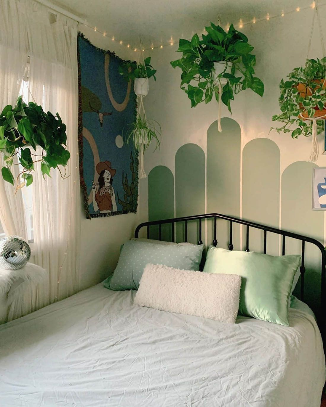 Painted Arch Walls Are So Hot Right Now Trending Little Gold Pixel Bedroom Decor Bedroom Wall Home Decor