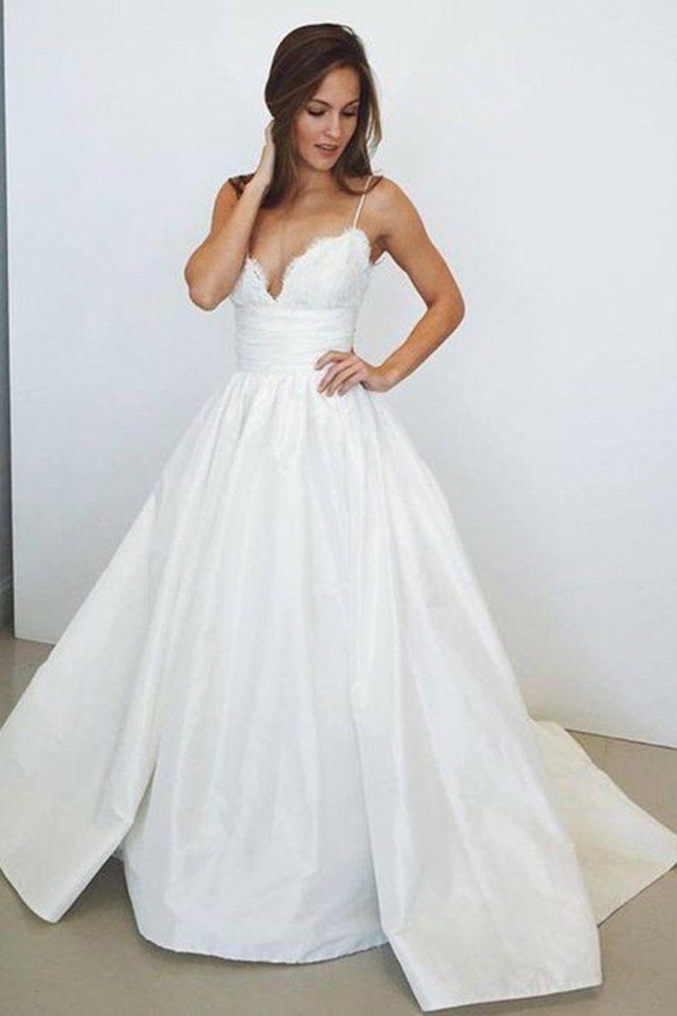 43+ Simple satin wedding dress spaghetti strap information