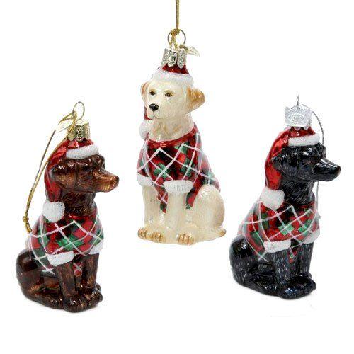 "LARGE 3/"" GERMAN SHEPHERD DOG CHRISTMAS ORNAMENT HOLIDAY Figurine Scarf  gift"